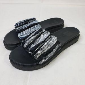 Daniella Lehavi Black & White Snake Skin Sandals